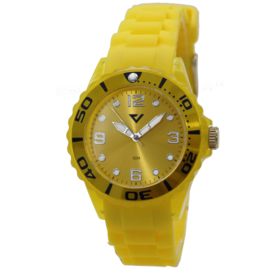 Prisma Geel Dames Horloge met Kunststof Horlogeband