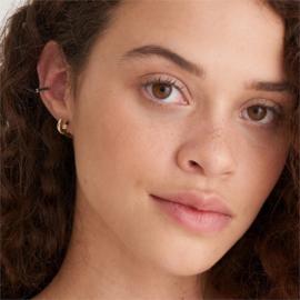 Ania Haie Bright Future Goudkleurige Creolen met Roodbruine Emaille