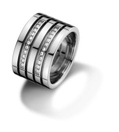 Ring met Zirkonia's van Tommy Hilfiger TJ2701026D