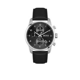 Hugo Boss Horloge Skymaster Zilverkleurig Horloge met Zwarte Band van Boss