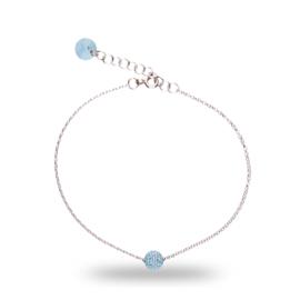 Lichtblauwe Pavé Swarovski Armband van Spark Jewelry