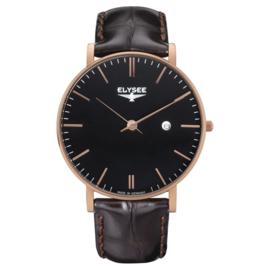 Zelos Elysee Heren Horloge met Roségoudkleurige Kast