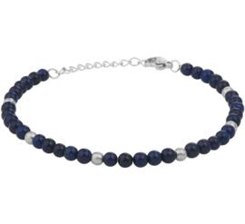 Lapis Lazuli Armband van Edelstaal