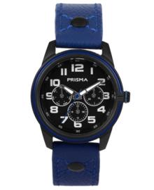Jack Jongens Horloge met Blauwe Lederen Horlogeband