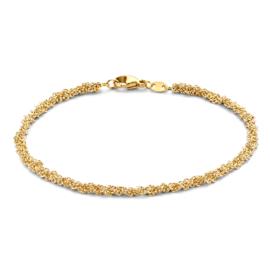 Excellent Jewelry Geelgouden Armband met Vervlochten Schakels