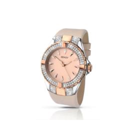 Sekonda SEKSY Dames Horloge met Roze Leder