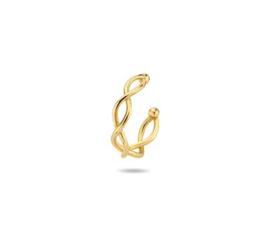 14k Massief Gouden Ear Cuff gevlochten