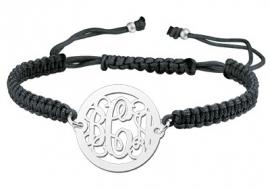 Zilveren Uitgespaard Monogram Armband ZNA07 > Names4ever