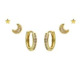 Karma Jewelry – Zesdelige It's Like Candy Earparty Set - Gold