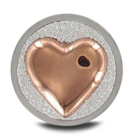 LOCKits Zilverkleurige Munt met Roségoudkleurig Hart 33mm
