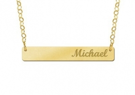Bar Naamketting Goud Medium Names4ever GNKB002