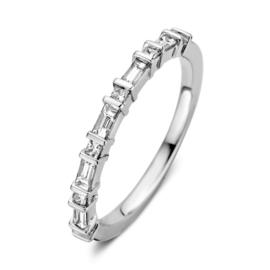 Excellent Jewelry Witgouden Ring met Baquette Briljanten