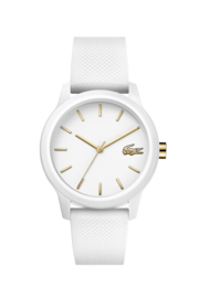 Lacoste Wit Dames Horloge met Witte Silicone Horlogeband
