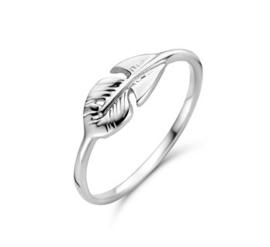 Zilveren Ring met Blad