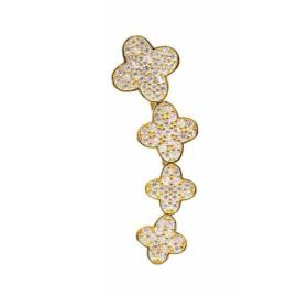 Linker Zilver- Gouden Ear Cuff van Anna