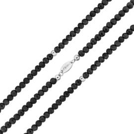 Zwarte Facetgeslepen Kralen Rek Armband van MY iMenso