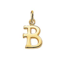 Gouden Letter Bedel Hanger – B - Sale