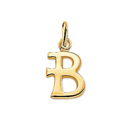 Gouden Letter Bedel Hanger – B
