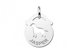 Names4ever Ronde Naamhanger met Hond ZNDH035