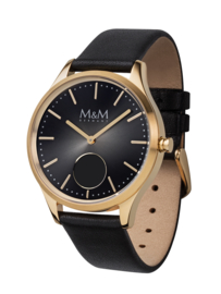 Hybrid Smart Watch met Zwart Lederen Band van M&M