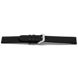 Horlogeband H113Z Classic Zwart Zilver 22x22 mm