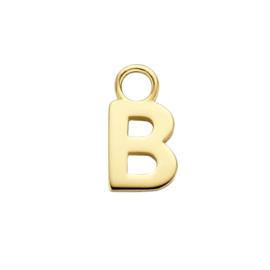 14K Geelgouden Oorringhanger met Letter B