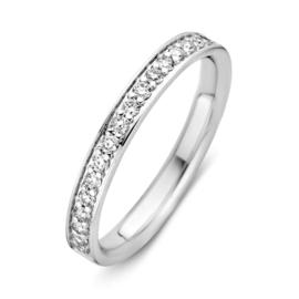 Excellent Jewelry Witgouden Ring met 0,27crt. aan Briljanten