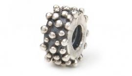 Biagi zilveren bedel Wheel round dots bs060