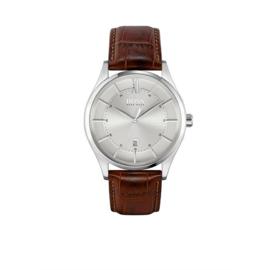 Hugo Boss Horloge Distinction Zilverkleurig Horloge met Bruine Band van Boss