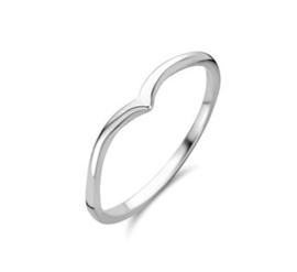 Mooie Zilveren V-vorm Ring