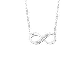 Names4ever Infinity Hanger met Zirkonia - Graveer Sieraad