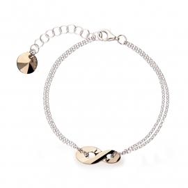 Infinity Goudkleurige Swarovski Armband