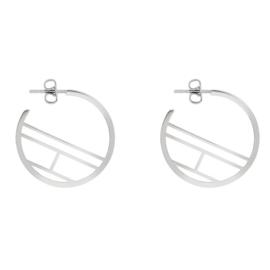 Zilverkleurige Dames Oorbellen met Logo van Tommy Hilfiger TJ2780328