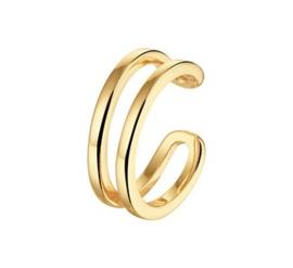 Goudkleurige Opengewerkte Earcuff voor Dames