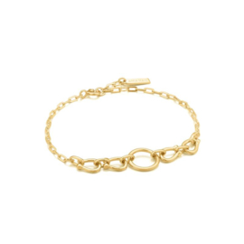 Goudkleurige Horseshoe Link Bracelet van Ania Haie