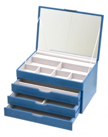 Moderne Sieradendoos in de kleur blauw