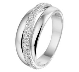 Fantasie Ring van Witgoud met Diamanten Rij