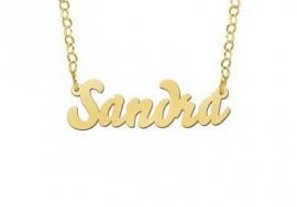 Names4ever Sandra Stijl Gouden Naamketting