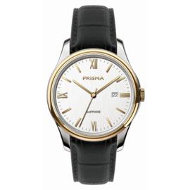 Prisma Alfa Heren Horloge met Goudkleurige Coating