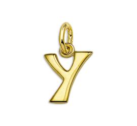 Gouden Letter Bedel Hanger – Y