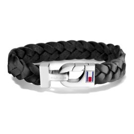 Zwart Lederen Heren Armband van Tommy Hilfiger TJ2700872