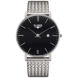 Zilverkleurig Zelos Heren Horloge van Elysee