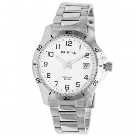 Prisma Horloge 1735 Heren Edelstaal 20 ATM Schroefkroon