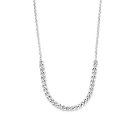 Zilveren Dames Collier Gourmet 4,0 mm 41 + 4 cm