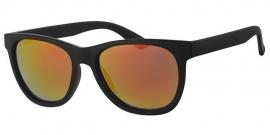 Wayfarer Zwarte Zonnebril + Spiegelglas