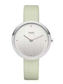 Basic Dames Horloge met Mintgroen Lederen Horlogeband van M&M