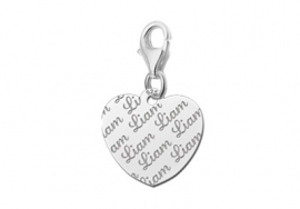 Names4ever Charm-Hartbedel met Naampatroon ZNB17