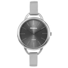 Zilverkleurige Titanium Dames Horloge van Prisma