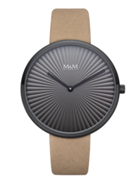 Zwart M&M Dames Horloge met Bruine Horlogeband