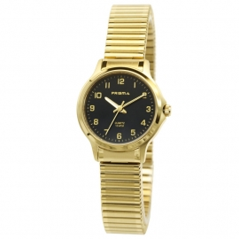 Prisma Dames Horloge P.8368 Rekband In Goudkleur
